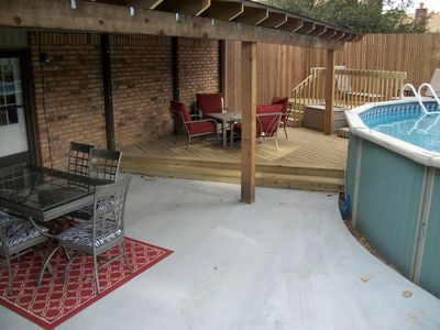 Broken Arrow house rental - Outdoor living - relax, swim, grill and play!