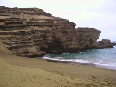 Papakōlea Beach (Green Sand Beach)
