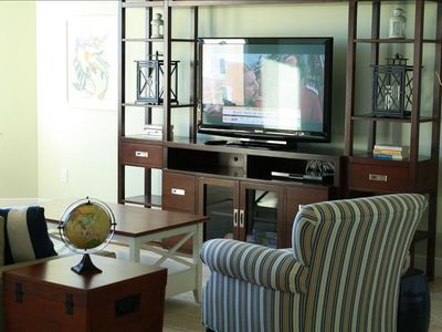 Flat screen TVs in family room & every bedroom!
