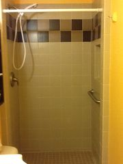 South Padre Island condo photo - Remodeled tiled shower in 2nd bath.