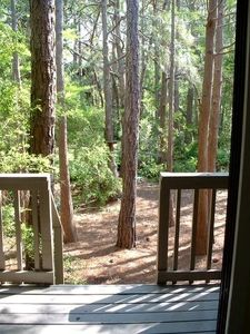 Seagrove Beach townhome rental - Private deck off living area