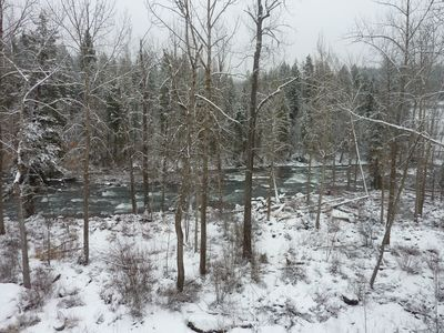 View from the deck. Swan River in winter