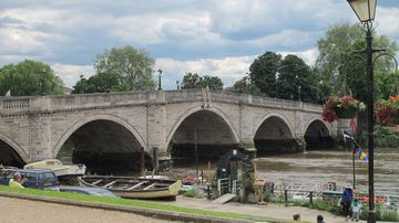 The lovely river Thames at Richmond, a walk, bus or train ride from the flat