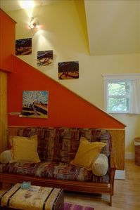 Stairway to loft bedroom