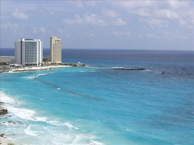 Breathtaking Views of the Caribbean Sea and the coveted Punta Cancun