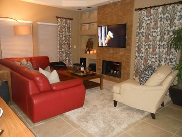 Scottsdale North condo rental - Living Room area with comfy sitting & 55' Wireless HDTV
