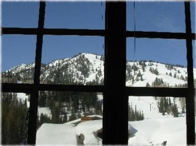 Stunning views of the mountain through the 7 foot high windows!