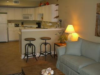 Amelia Island condo photo - Living room looking toward kitchen.