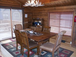 Breckenridge house photo - Dining Room with sliding glass door that leads to the large deck area