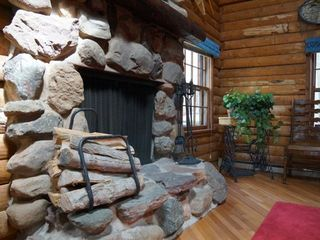 Minocqua cabin photo - Both fireplaces stocked with wood