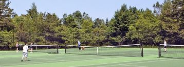 Play tennis at out community tennis courts