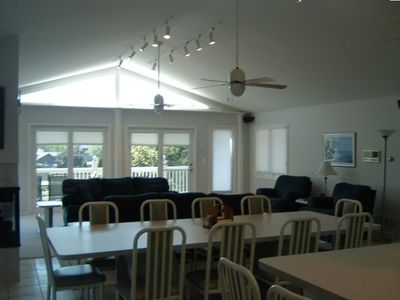 Large Dining Area Can Accommodate up to 16 - 10 at the Table, 6 at the Island