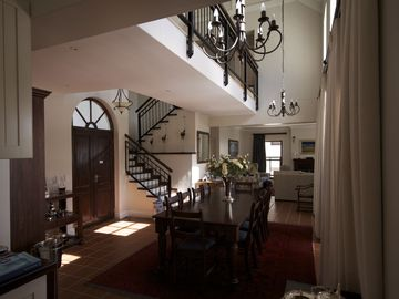 Entrance hall and dining room