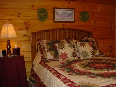 Blue Ridge cabin rental - One of Two Guest Bedrooms
