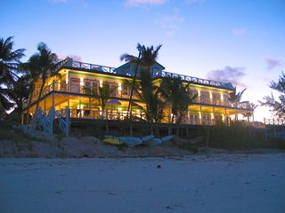 Great Exuma villa photo - Bougainvillea House at sunset