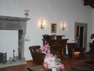 Fiesole villa photo - Dante living room - The old fireplace