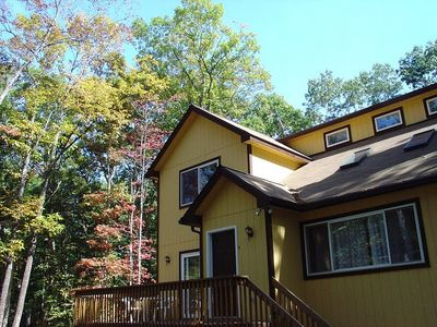 Dingmans Ferry house rental - This is a spacious, airy and welcoming contemporary house for groups under 10.