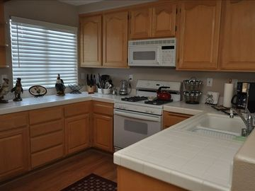 Nipomo house rental - Spacious kitchen, fully stocked, all you need to do is bring groceries.