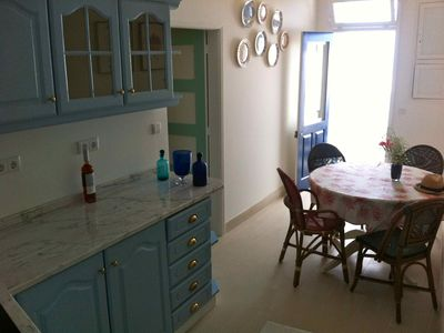 Beach Spacious fully equipped kitchen natural light & comfortable dining