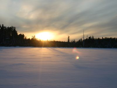 Lake Gegoka winter sunset