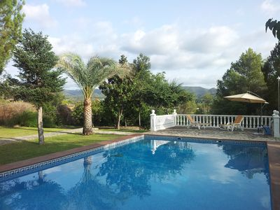 Spacious family home in the countryside with mountain views and private pool