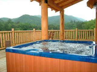 Pigeon Forge cabin photo - Two Hot Tubs on the Main Floor Deck