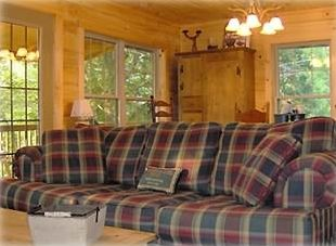 Living Room Sofa for relaxing after a day in or on Lake Lure