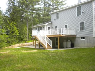 North Conway house photo - Enjoy the deck and great area for games.