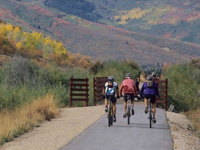 Rail Trail: Hiking, biking and running trail right across the street!