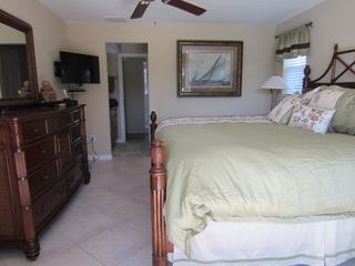 Vacation Homes in Marco Island house photo - King Bedroom with hallway to Master Bath