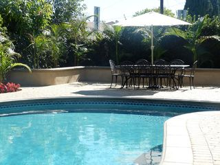 Anaheim house photo - Backyard lush palm trees, great for pool party and outdoor entertaining