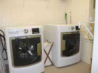 Ogunquit house photo - High capacity and high efficiency washer and dryer for the gang.