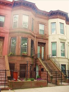 Brownstone Exterior, Street parking available
