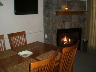 Stowe condo photo - Gas Fireplace/Flatscreen TV