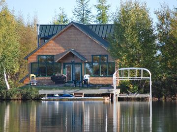 Big Lake house rental - View from the paddleboat!