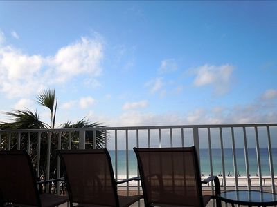 Direct View of the Ocean from the Balcony - New Patio Furniture