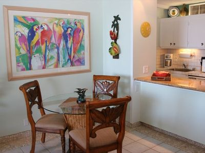 Soft tropical colors and decor welcome you after a day's activities.