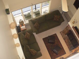 Waterville Valley condo photo - view from loft into living room