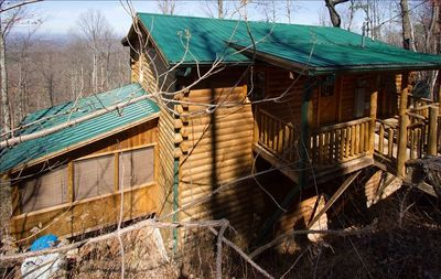 View of Front of Cabin - Welcome To Your Luxury Mountain Vacation!