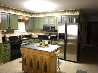Lake Placid condo photo - Updated Kitchen- plenty of pans and dishes