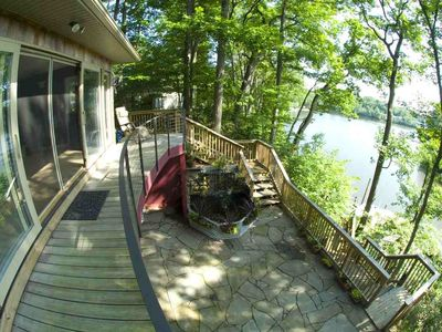 Annapolis house rental - View of waterfall and waterfront
