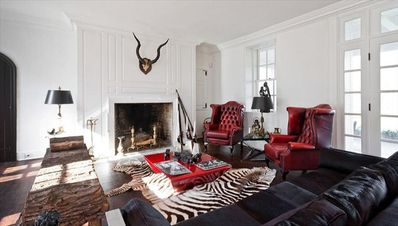 Living Room--our taste combines mid century finds with period antiques