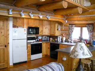 Fairplay cabin photo - Kitchen stocked with all the necessities. There's also a gas bar-b-que grill.