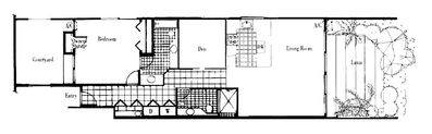 Melia Condo Layout - 1039 square feet