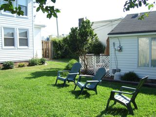 Virginia Beach cottage photo - relaxing and grilling in backyard next to cottage