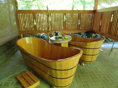 unique outdoor cypress soaking tubs