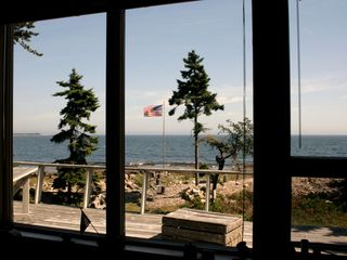 Prospect Harbor house photo - Fabulous view from inside or porch while you relax watching the tide come in.