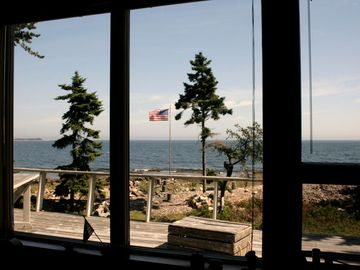 Fabulous view from inside or porch while you relax watching the tide come in.