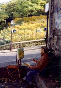 Vineyard Painter -- The Montmartre Vineyard is just around the corner!