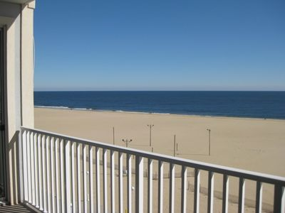 Belmont Towers Ocean City condo rental - View of Beach looking NE from balcony